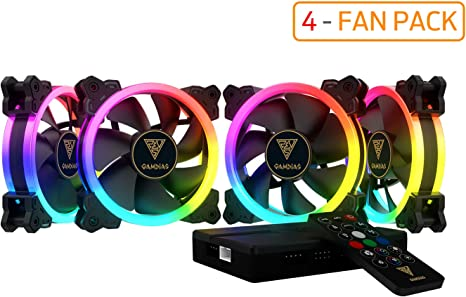 3 GAMDIAS AEOLUS M1-1403R 140 MM RGB 3 in 1 Fan Pack with Controller and Remote