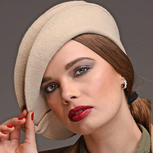 Amazon.com: RACEU ATELIER Helen Beret Beige - Woman Wool Beret - 100% Wool - Solid Color Wool Berets Beanies Cap Hats - Vintage Classic French: Handmade
