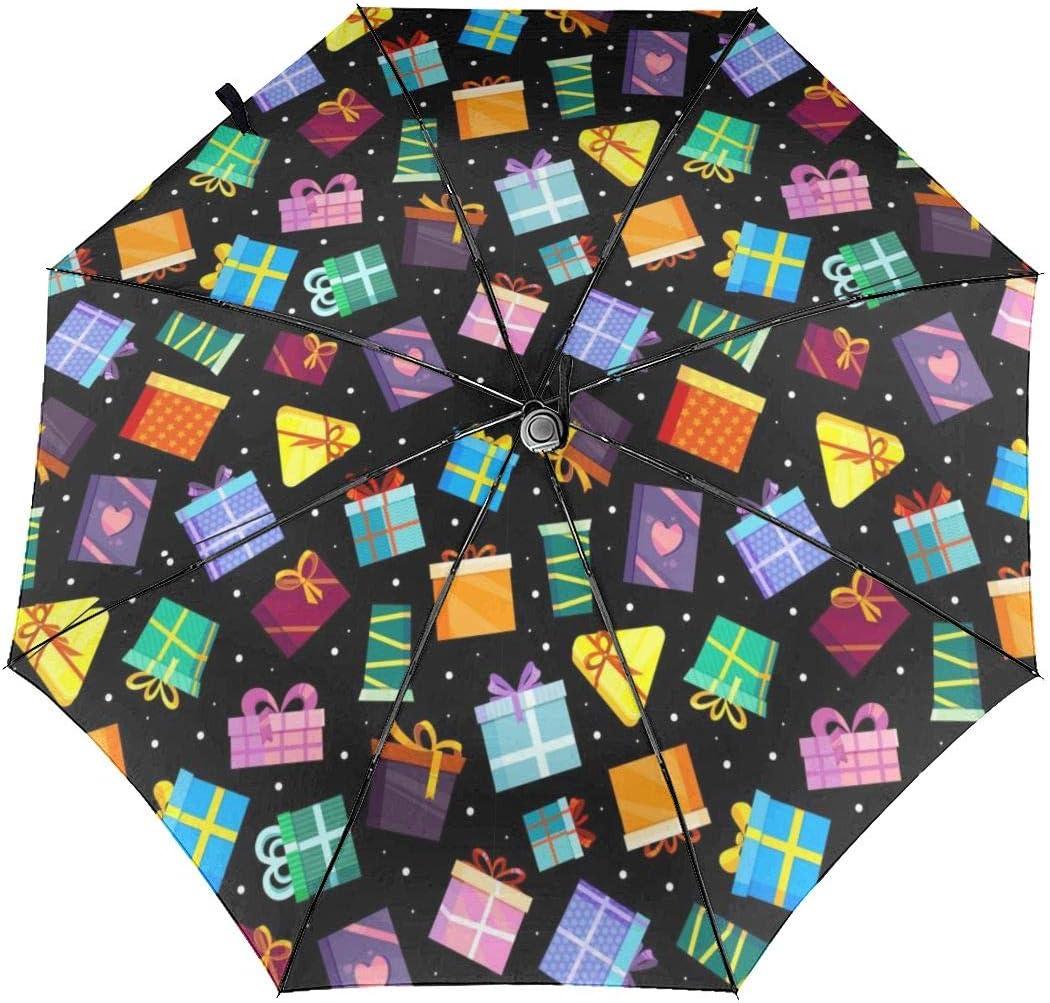 Gifts Boxes Xmas Automatic Folding Umbrella Super Sunscreen Rain Portable Creative UV Protection Tri-Fold Umbrella