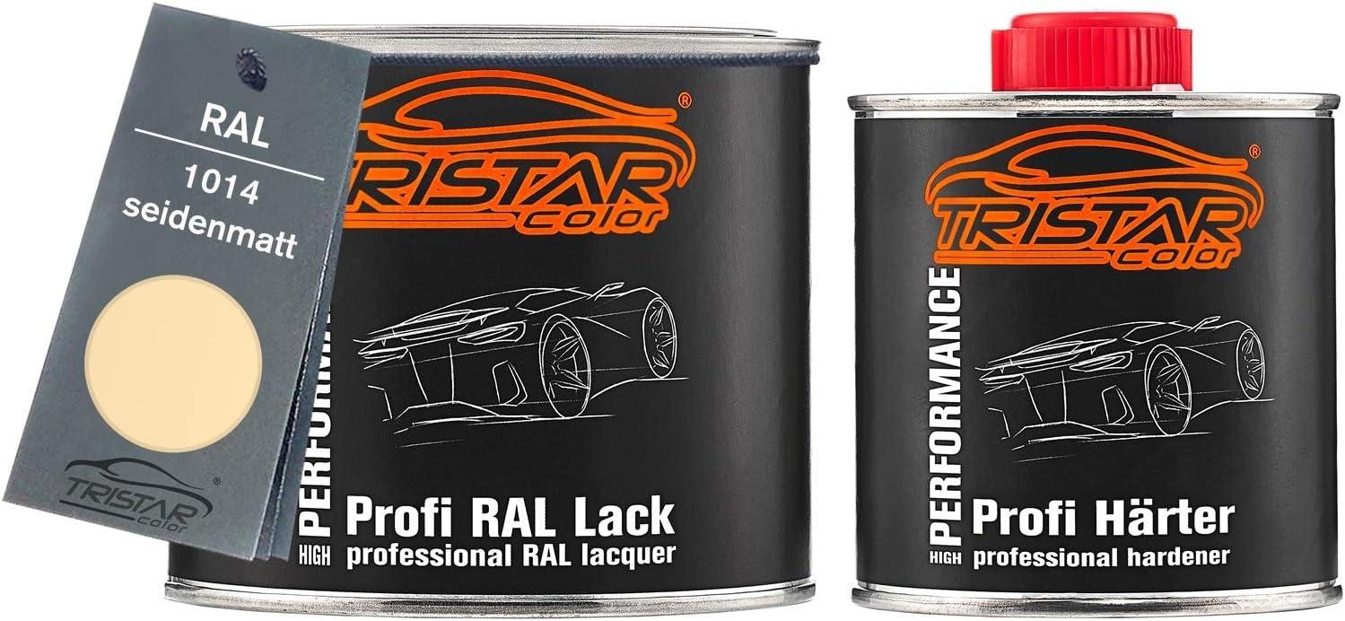 Tristarcolor Ral 1014 Elfenbein Seidenmatt 2k Autolack 0 75 Liter 750 Ml Dose Inkl Härter Auto