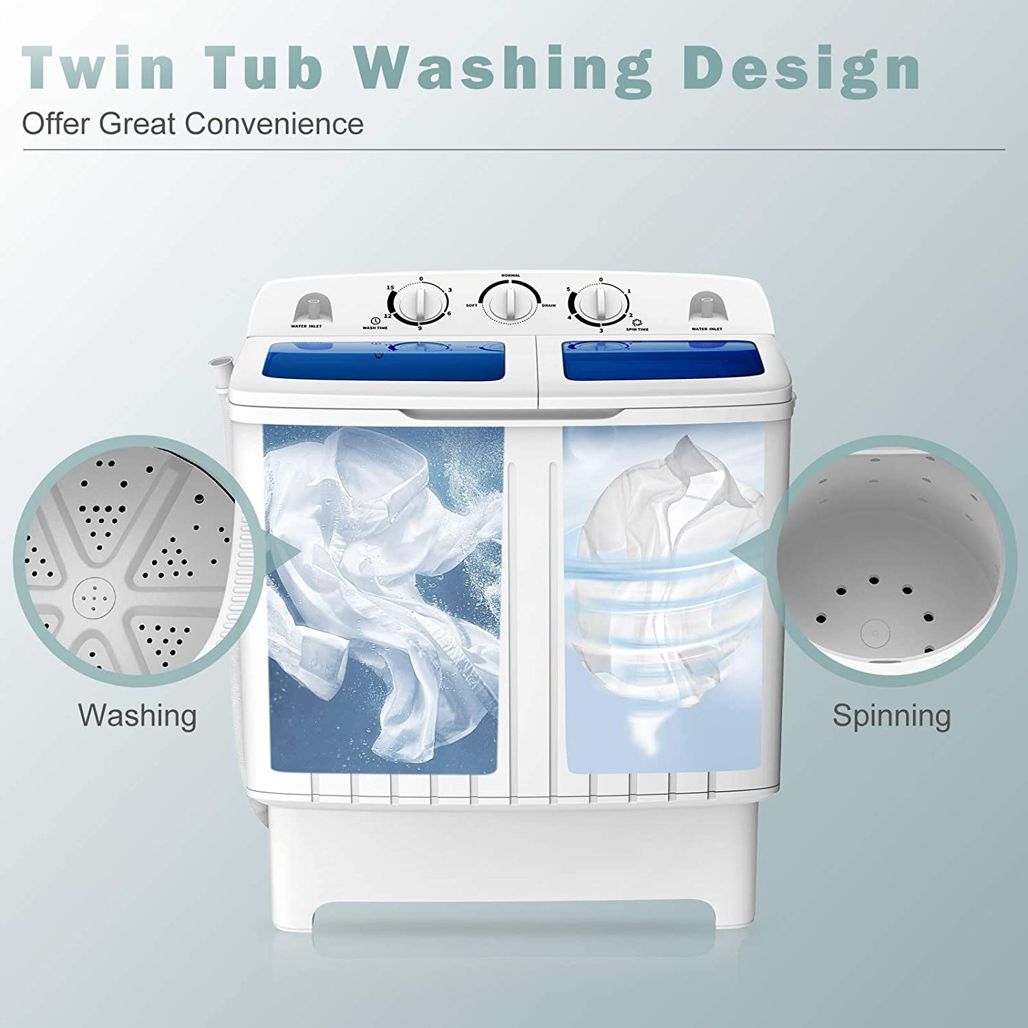 Washers & Dryers Portable Washers Blue Portable Washer for Camping ...