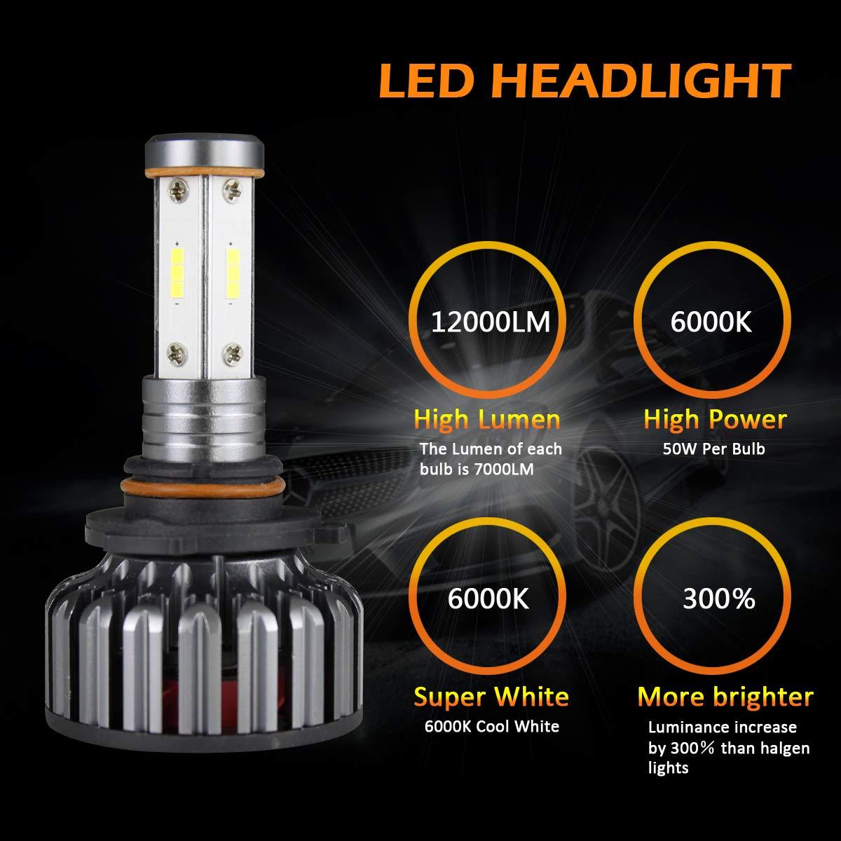 Amazon.com: Bombillas LED para faros delanteros ...