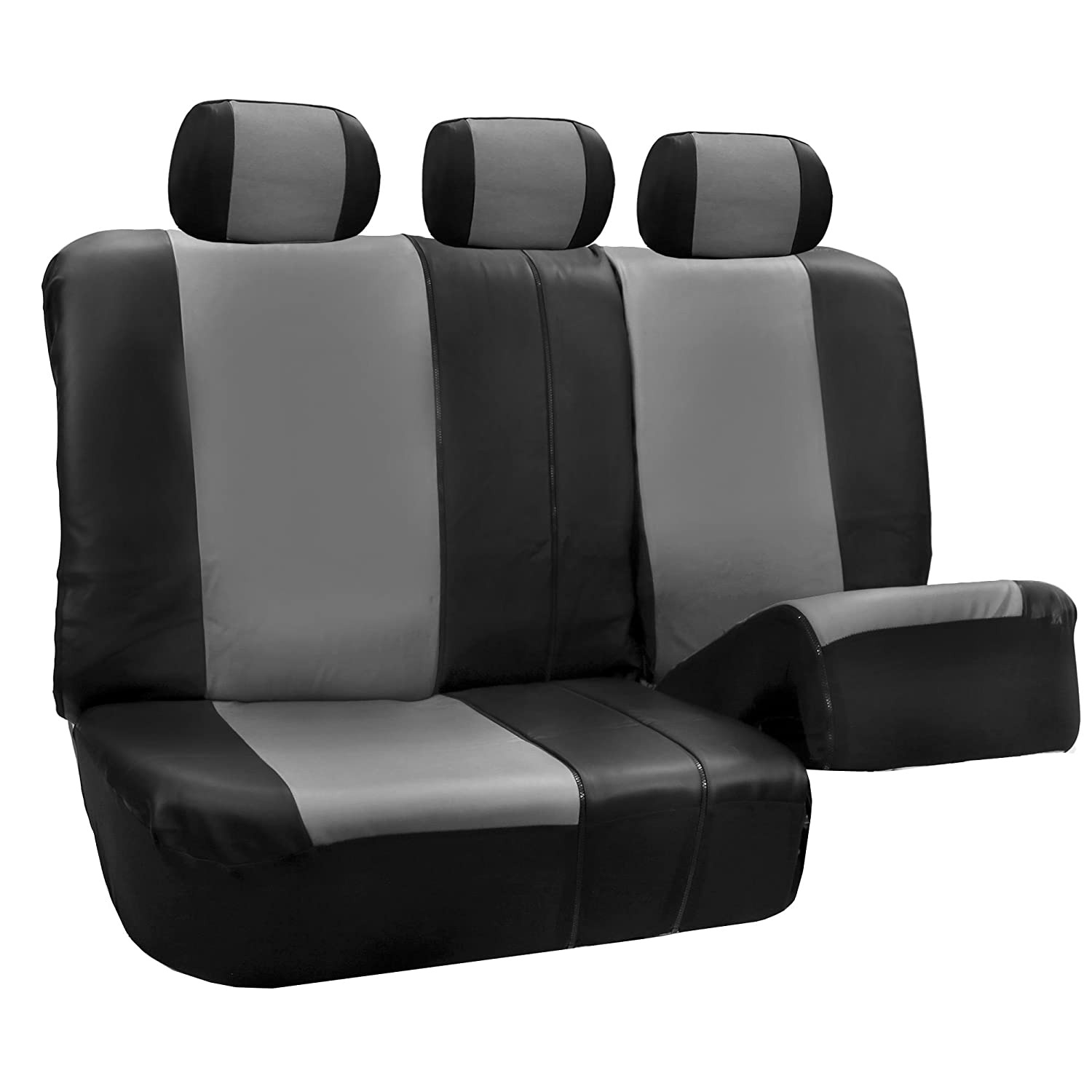 Truck or Van FH Group FH-PU003115 Racing PU Leather Car Full Set Tangerine//Black Seat Covers FREE FH1002 Non-Slip Dash Pad- Fit Most Car Suv Airbag Ready and Split w