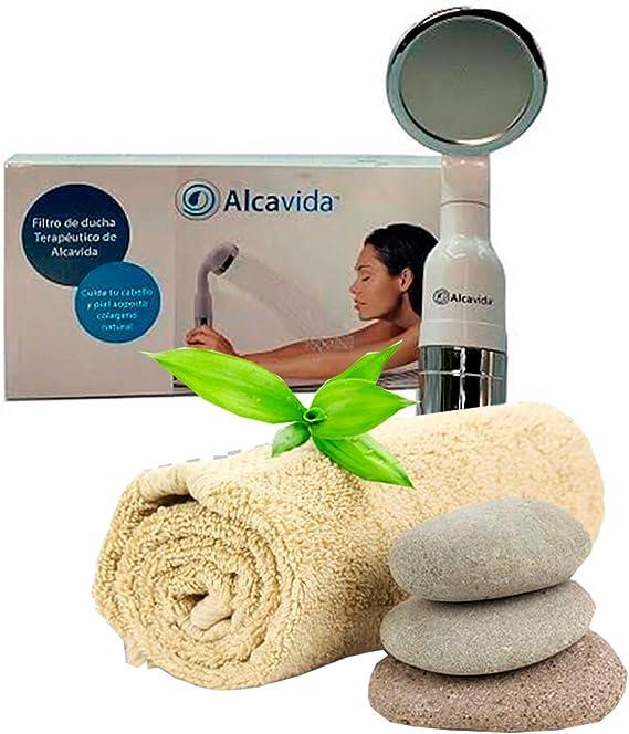 Alcavida- filtro para la ducha purifica y absorbe las impurezas ...