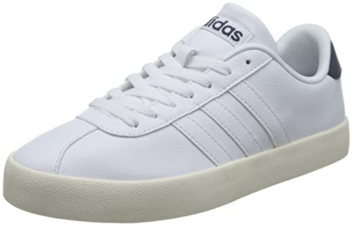 adidas neo Men s Vlcourt Vulc Ftwwht and Conavy Leather Sneakers - 6  UK India ( cfbba2c91