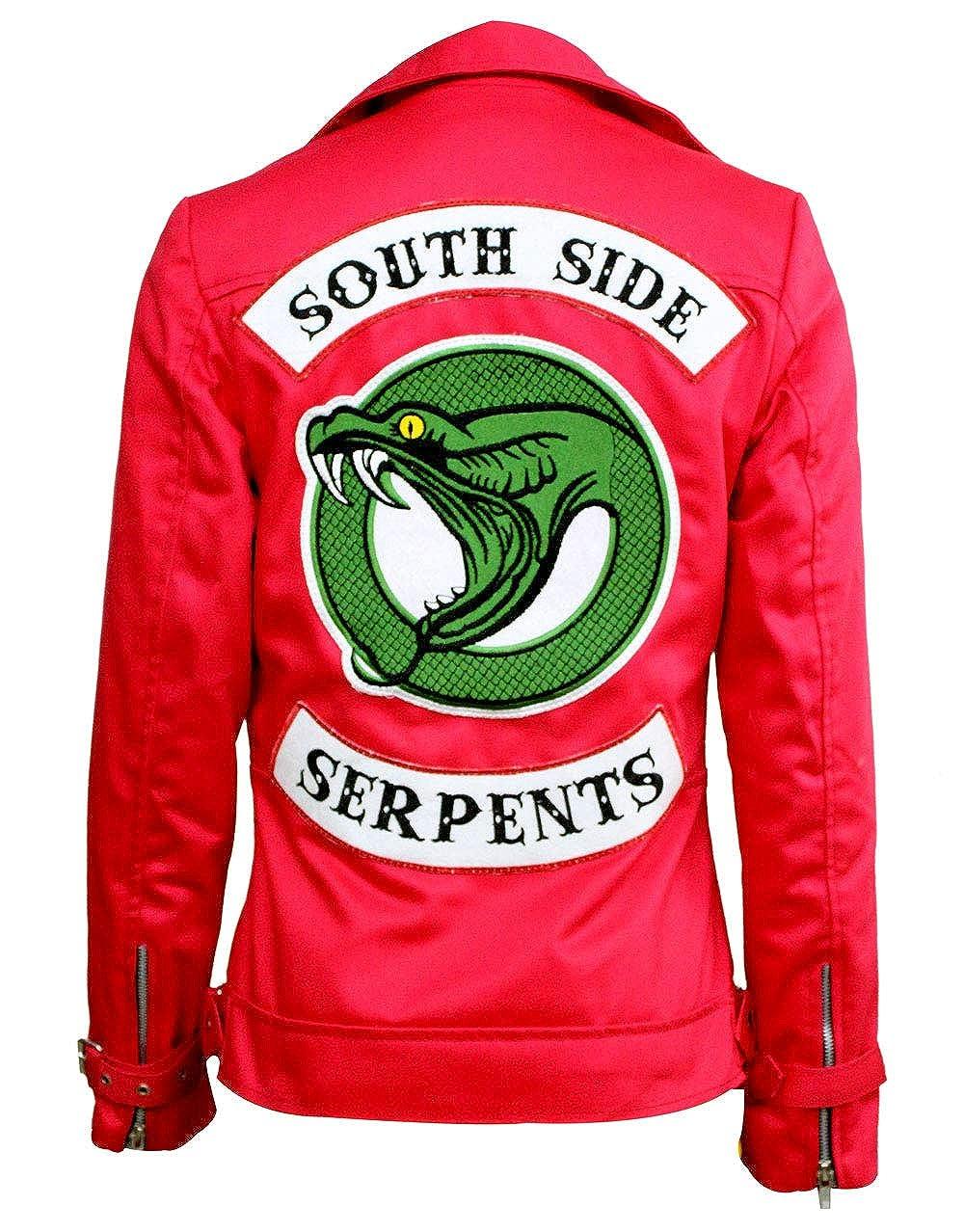 MJ Donna Red Cherry Riverdale Southside Snakes Cheryl Blossom Giacca  Madelaine Petsch  Amazon.it  Abbigliamento 1db686c962c