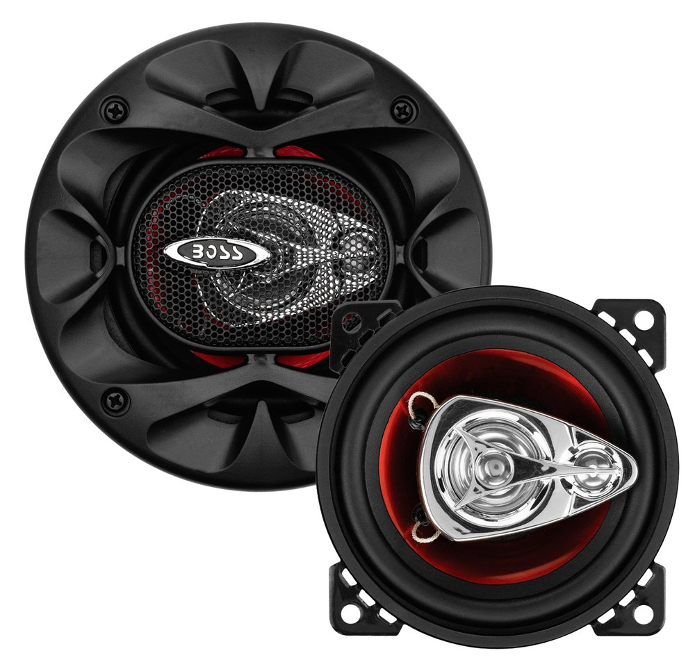BOSS Audio CH4230 Car Speakers - 225 Watts of Power Per Pair and 112.5 Watts Each, 4 Inch, Full Range, 3 Way, Sold in Pairs, Easy Mounting