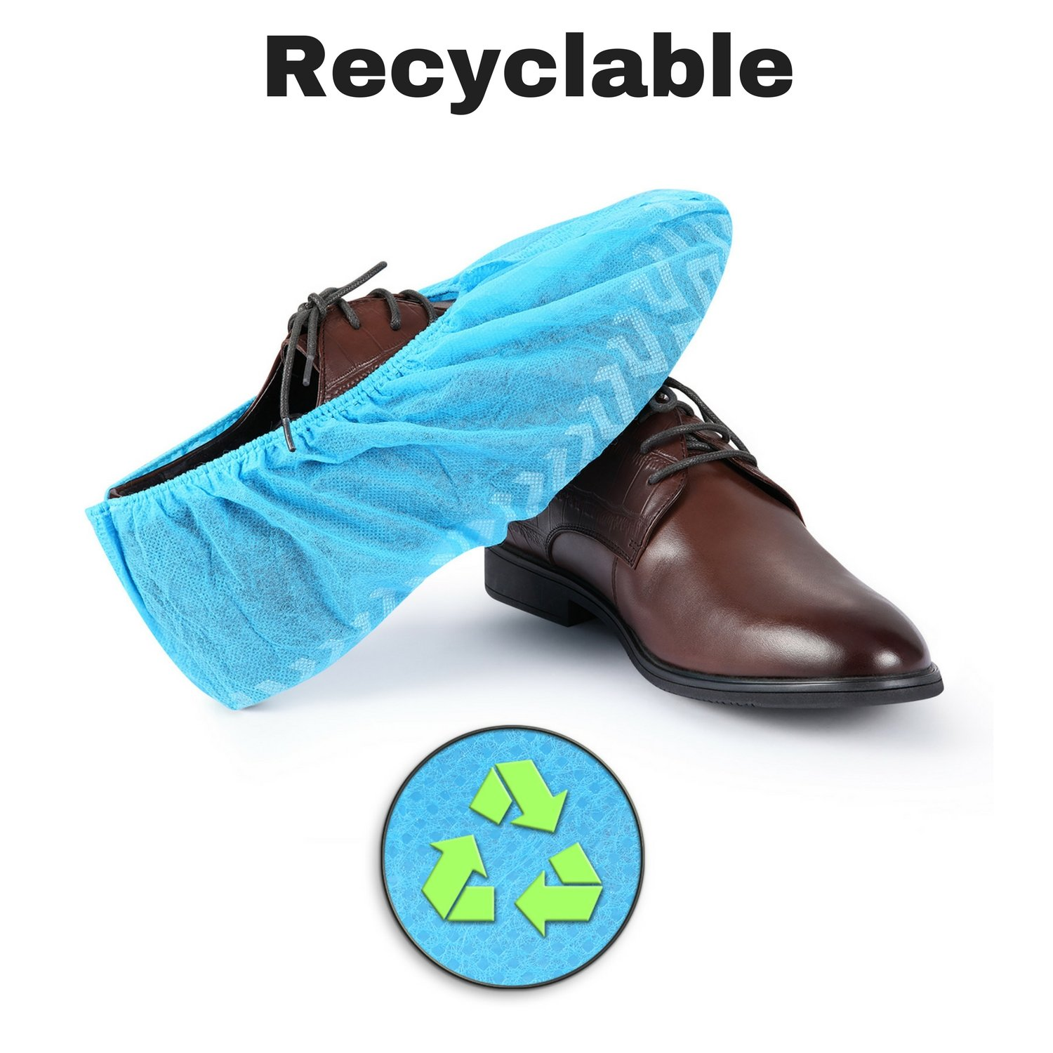 MIFFLIN Disposable Shoe Covers (Blue, 120 Pieces) Durable Boot Covers, Non-Slip Polypropylene, One Size Fits Most by MIFFLIN (Image #8)