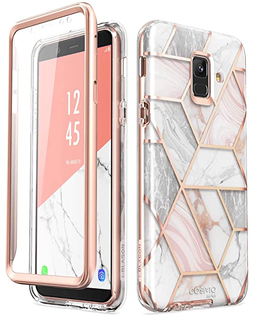 Samsung Galaxy A6 Case, [Built-in Screen Protector] i-Blason [Cosmo] Full-Body Glitter Sparkle Bumper Protective Case for Galaxy A6 (2018 Release) ...