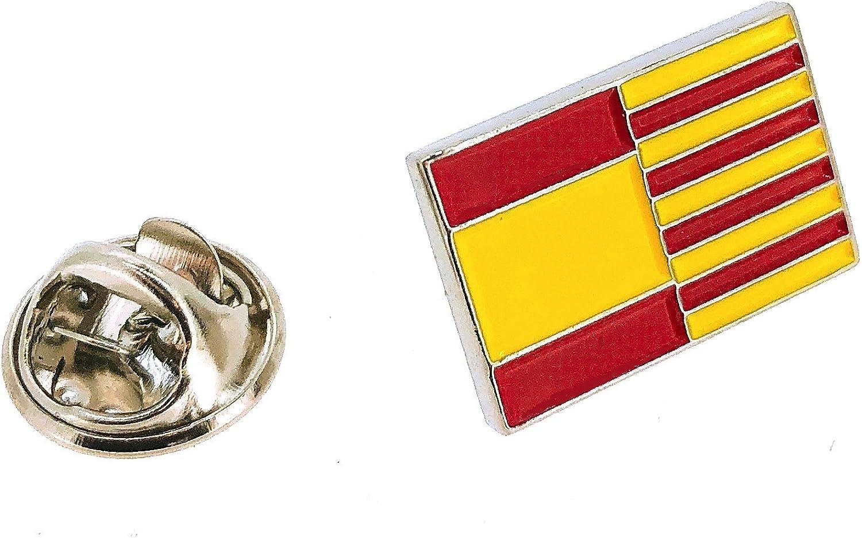 Pin de solapa de la Bandera Cataluña y España: Amazon.es: Ropa y ...