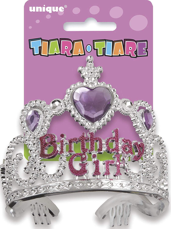 Tiara/diadema cumpleaños Chica del cumpleaños de plata ...