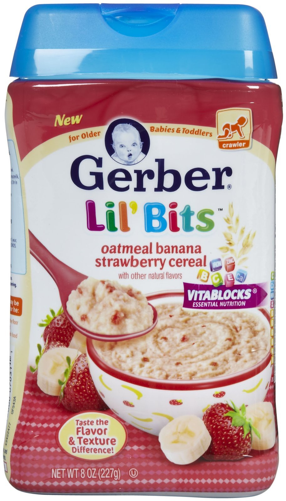 Gerber Lil' Bits Oatmeal Banana Strawberry Cereal 8 OZ (Pack of 18)