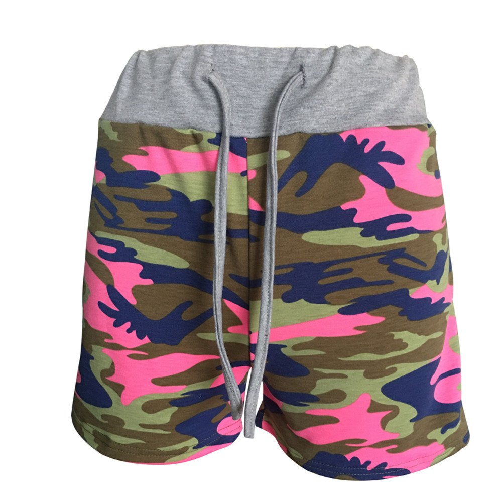 Waterproof Trousers Shorts Pants Trousers Lady Summer Camouflage Womens Workout Yoga Hot Shorts Drawstring Casual Shorts