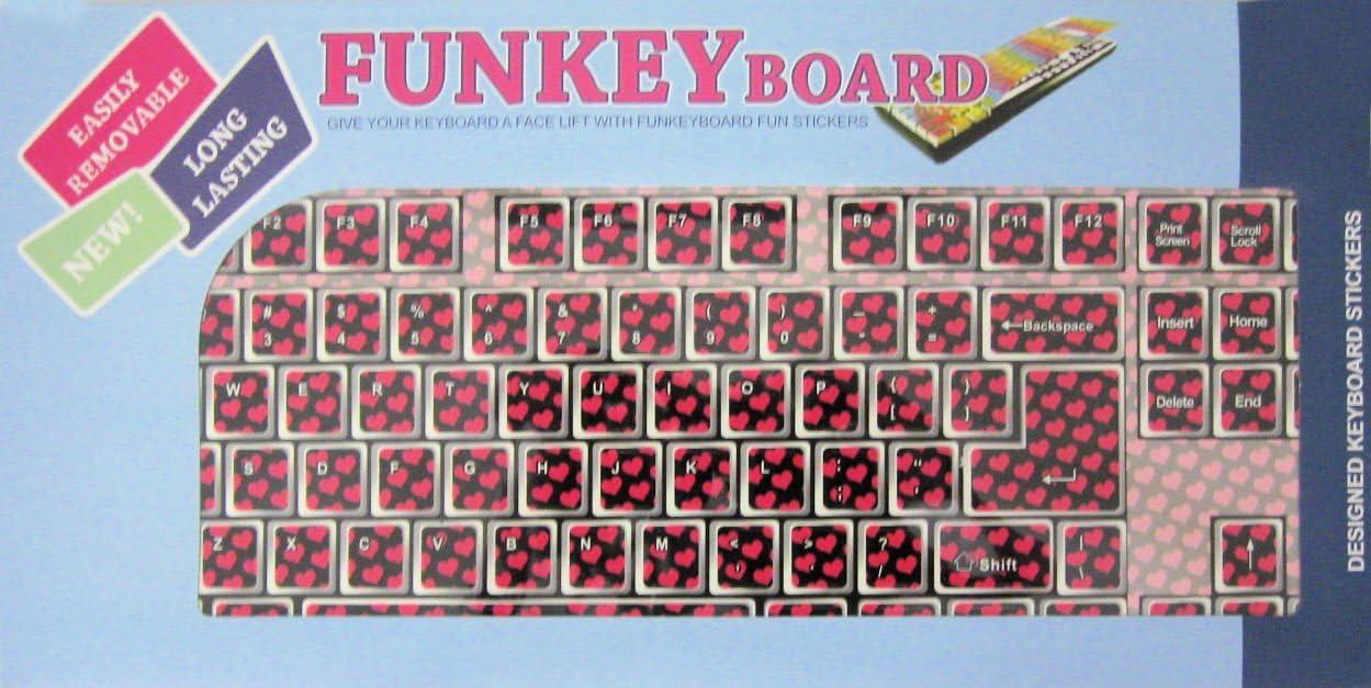 Pink Hearts Funkey Board Keyboard Design Cover 08