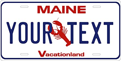 Maine Lobster Personalized Custom Novelty Tag Vehicle Car Auto Motorcycle Moped Bike Bicycle License Plate Covers