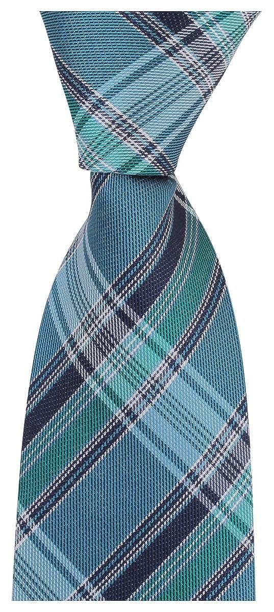 Knightsbridge Neckwear Mens Luxury Checked Tie Blue//Green//Navy