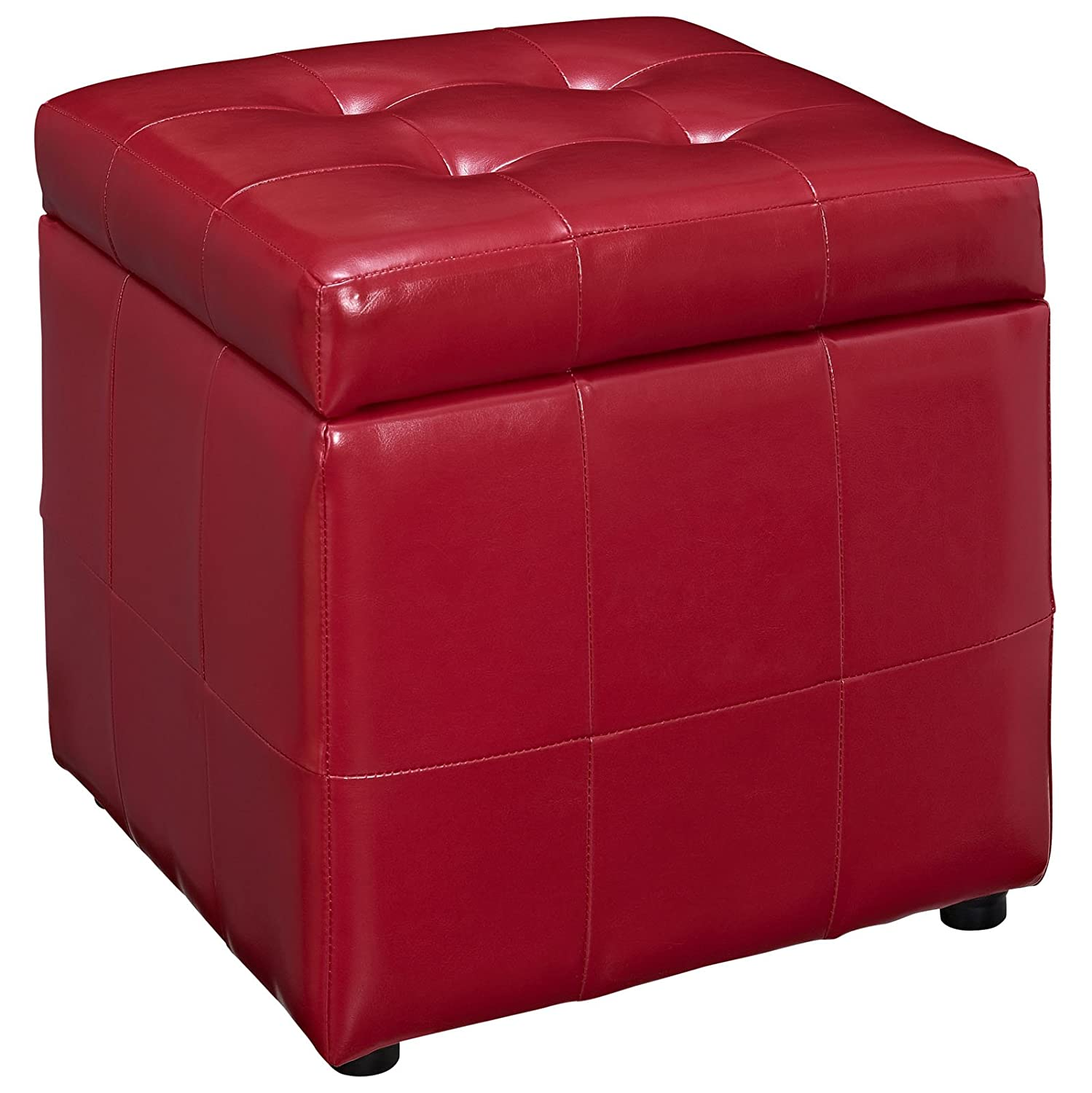 sc 1 st  Amazon.com & Amazon.com: Modway Volt Leatherette Ottoman Red: Kitchen \u0026 Dining