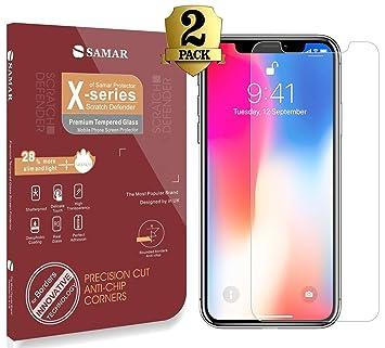 Samar - Apple iPhone X Premium calidad [2 en paquete ...