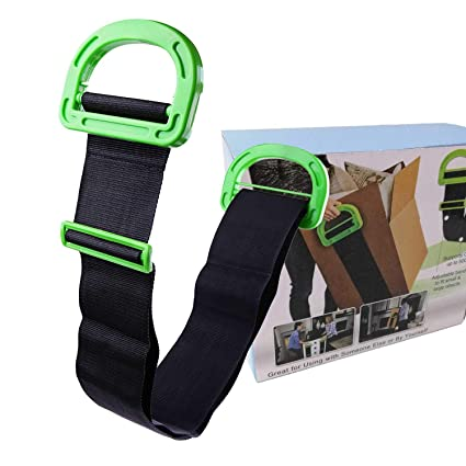 99cc8fae8915 Adjustable Furniture Carrying Straps and Moving Straps, Lifting Straps for  Furniture,Single or Two Person Carrying - Secure to Lift Heavy Objects ...