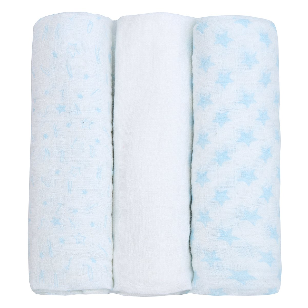 White Darling Premium Quality Baby Muslin Squares 100/% Cotton SUPERSOFT Pack Of 12