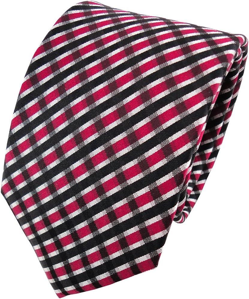 ohne Markenname Diseñador corbata de seda de raso - rojo negro ...