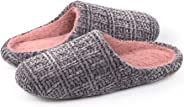 ULTRAIDEAS Women's Plush Chenille Slippers with Memory Foam, Ladies' Fuzzy Slip on House Shoes with Indoor Anti-Skid Soft Rub