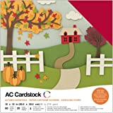 American Crafts 376987 Cardstock Variety Pack Autumn 60 Sheets of 12 X 12 Cardstock