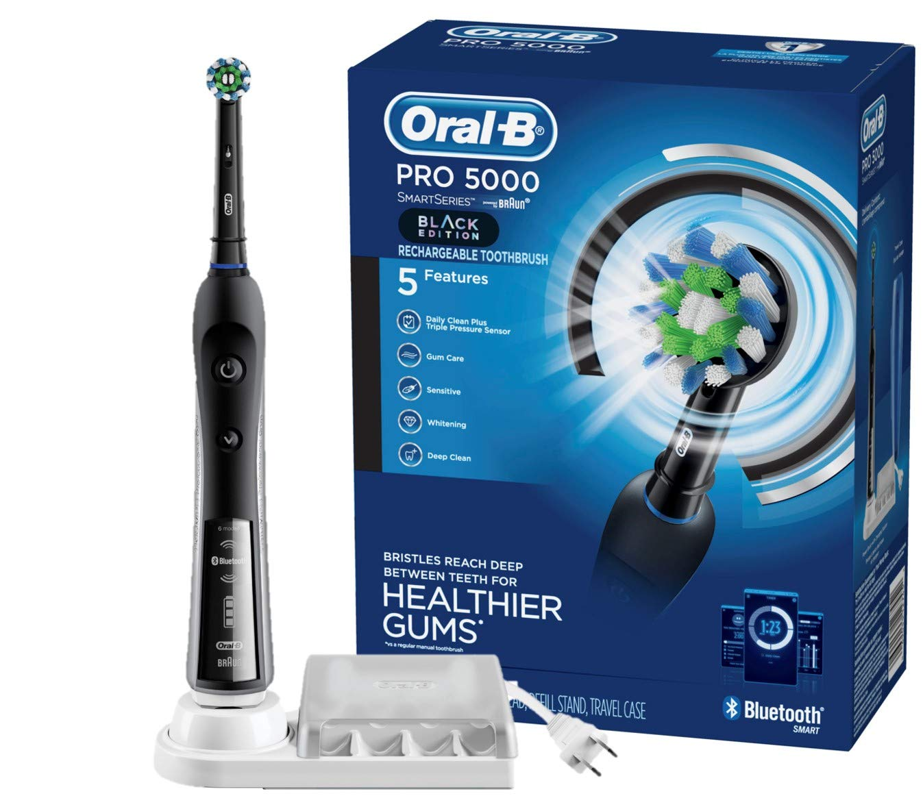 Oral-B Pro 5000 Smartseries Electric Toothbrush With Bluetooth Connectivity, Black Edition (Powered By Braun) by Oral-B