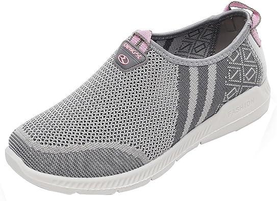Zapatillas Deportivas Zapatos Planos Mujer Vestir Running Bambas Verano Minelli Sandalias de Mujeres Tela Unisex Classic Promocion: Amazon.es: Zapatos y complementos