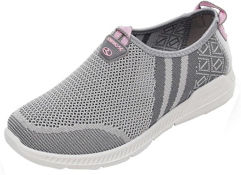 Zapatillas de para Mujer, BOBOLover Zapatillas de Baloncesto para Zapatillas de Senderismo para Mujer al Aire Libre Fitness Los Zapatos Casual Resistentes ...