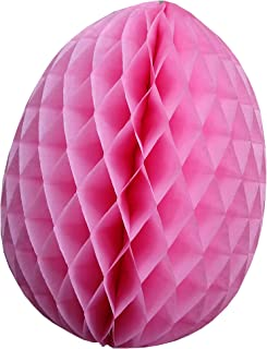 product image for 3-Pack 9 Inch Honeycomb Tissue Paper Easter Egg Decoration (Dusty Rose)