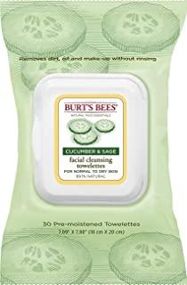 product image for Burt's Bees Facial Cleansing Towelettes, Cucumber and Sage 30 ea (Pack of 6)