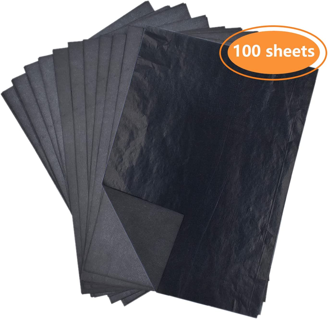 LiXiongBao 100 Sheets Black Carbon Transfer Tracing Paper for Wood 8.27 x 11.69 Inches Paper Canvas and Other Art Surfaces