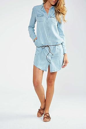 Bleu L Iconic Levi's Delave Robe Western Femme Jean En reWxodCB