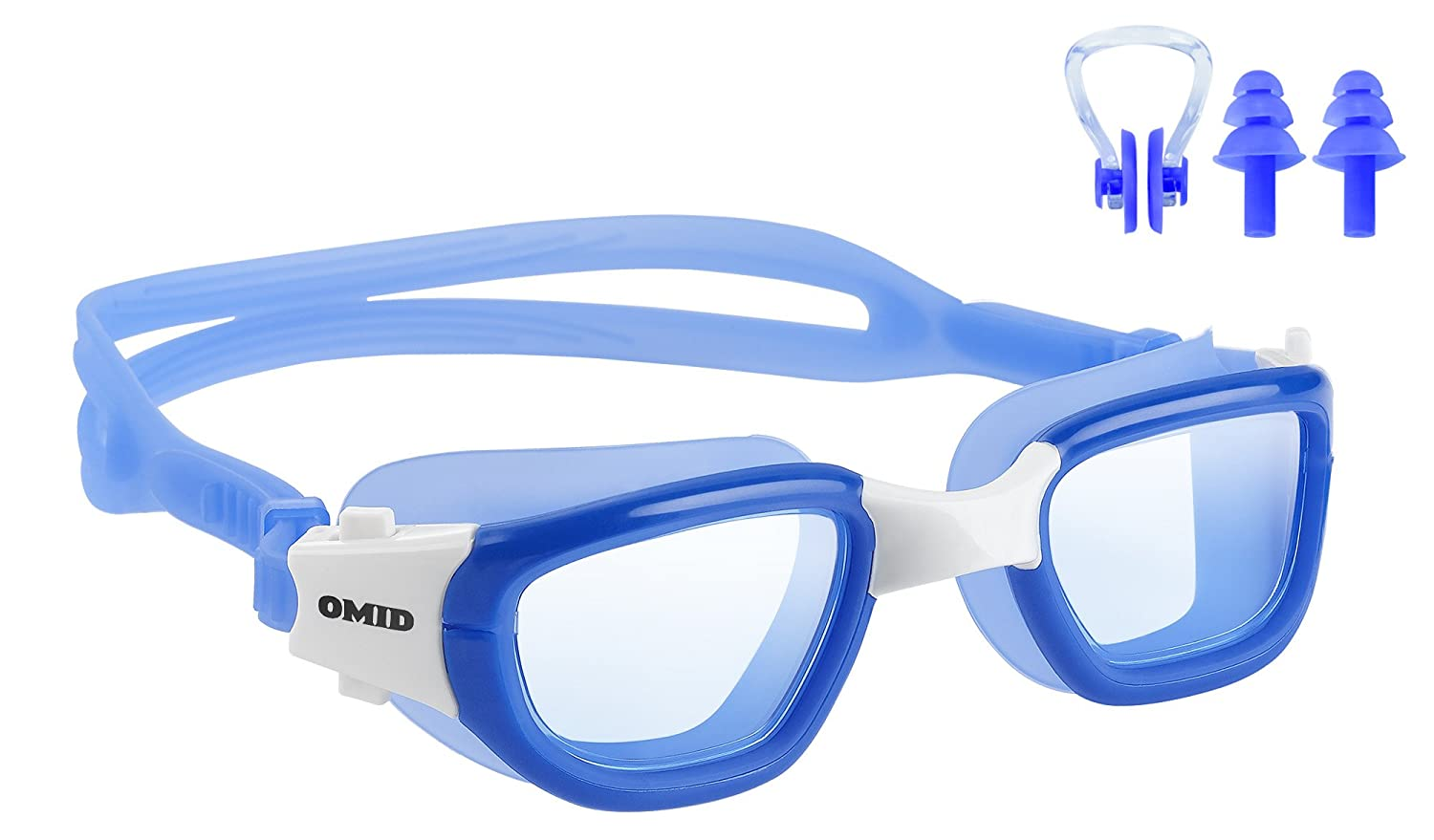 58b3ac1ccbc Amazon.com   OMID Swim Goggle - Anti-Fog Swimming Goggles with UV400  Protection Lens for Adults and Youth (Clear Mirrored Optional)   Sports    Outdoors