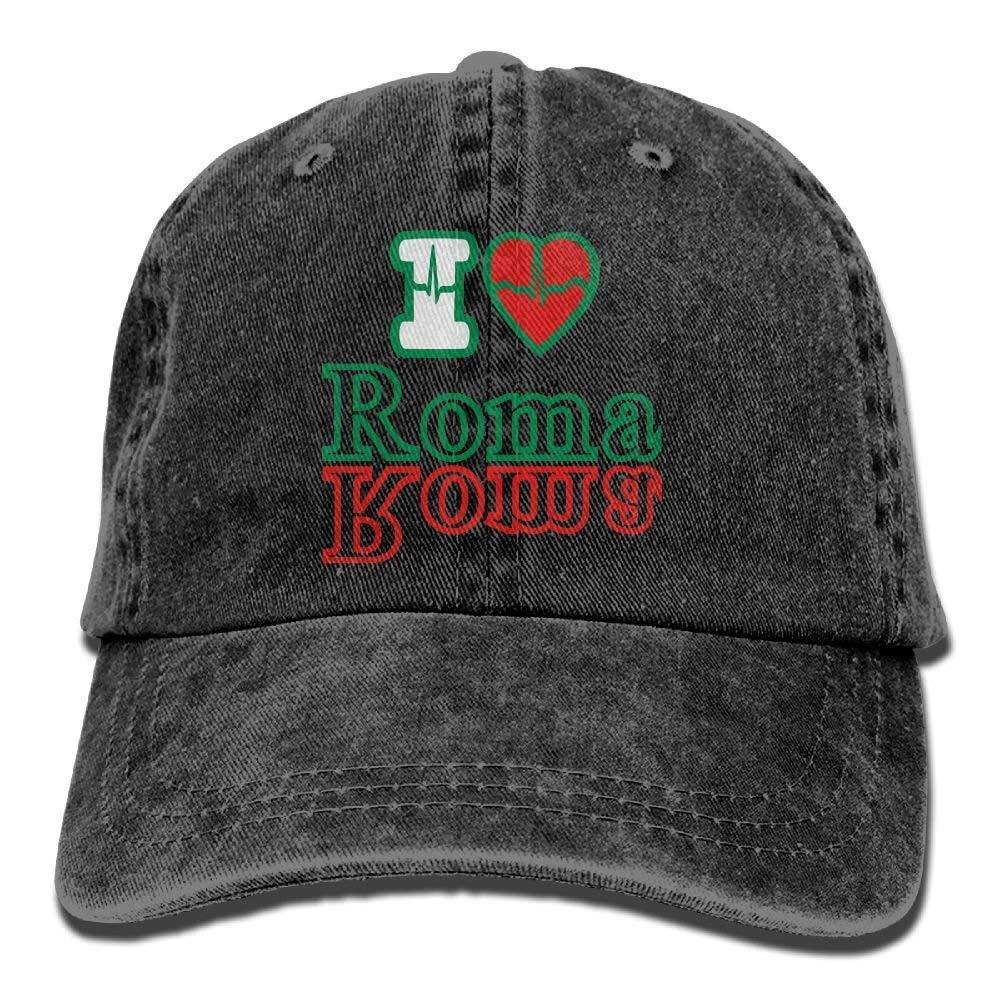 Zcfhike I Love Roma Cowboy Hat Rear Cap Adjustable Cap C6