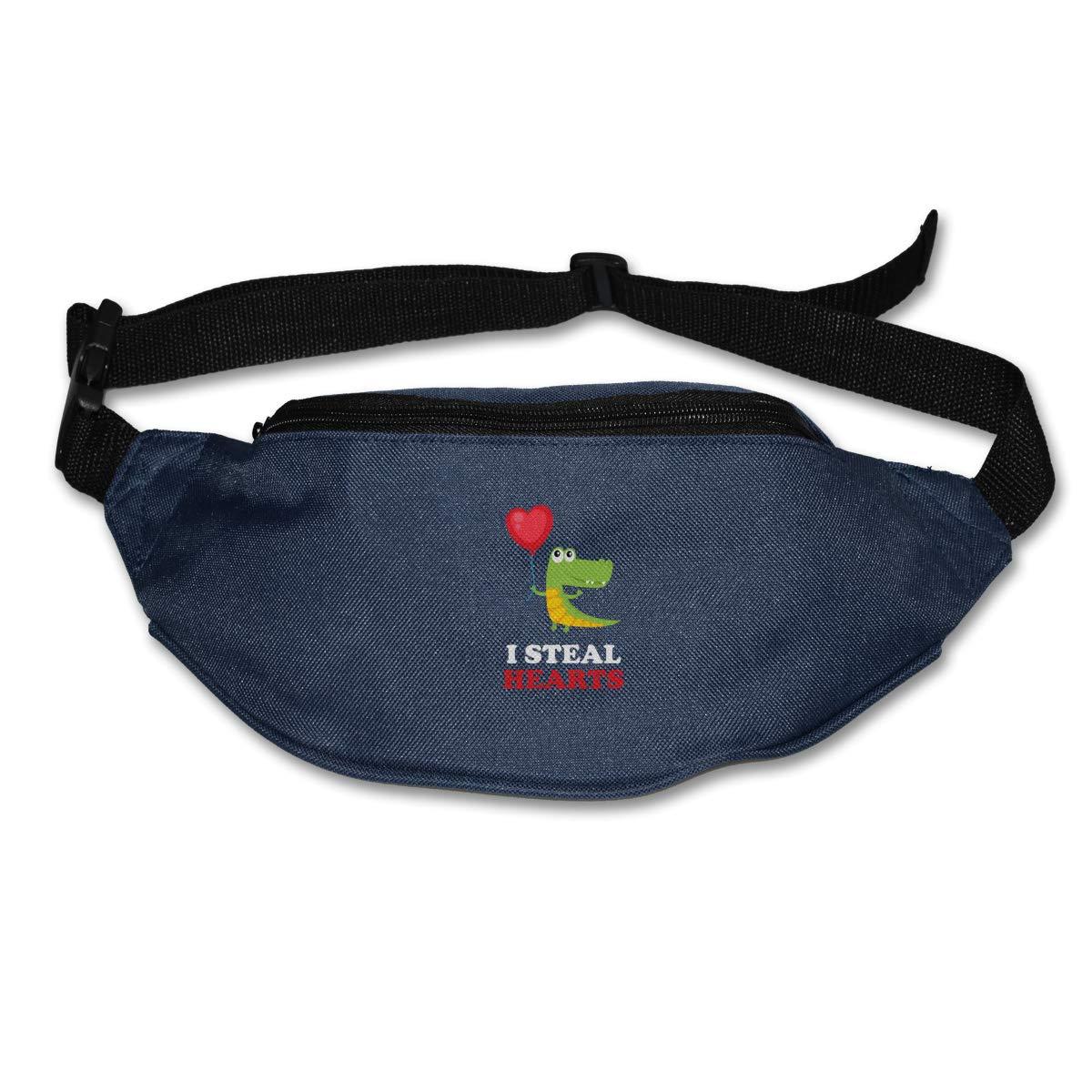 I Steal Hearts Sport Waist Pack Fanny Pack Adjustable For Hike