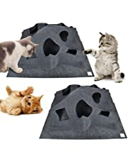 Cat Play Mat,Aolvo Fun Interactive Play Collapsible Pet Mat Training Scratching Thermal Bed Mat - Great Gift for Any Cat Or Other Pet