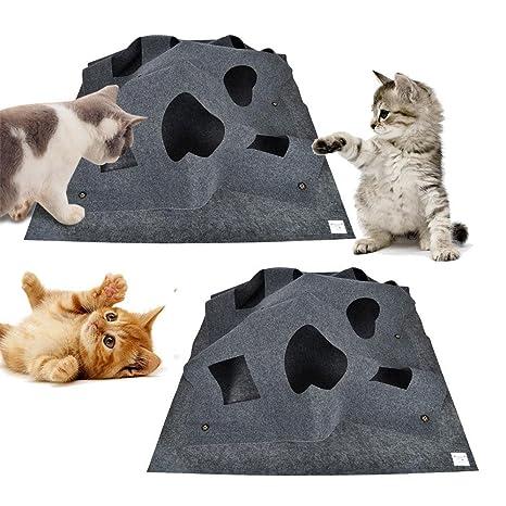 AOLVO - Alfombrilla de Juegos para Gatos, Divertida, interactiva, Plegable, para Entrenamiento