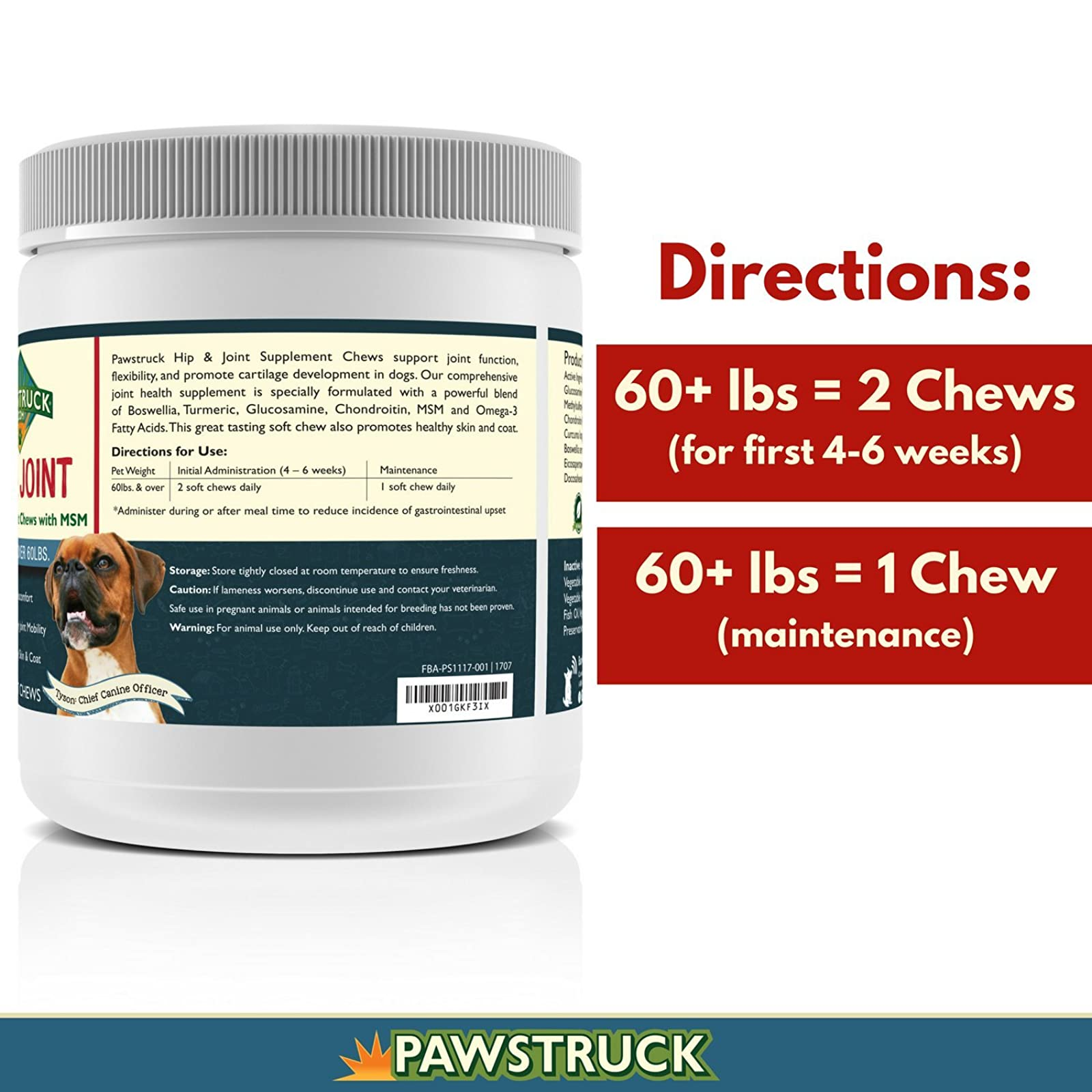 Natural Hip and Joint SupplementDogs in Bulk - - 4