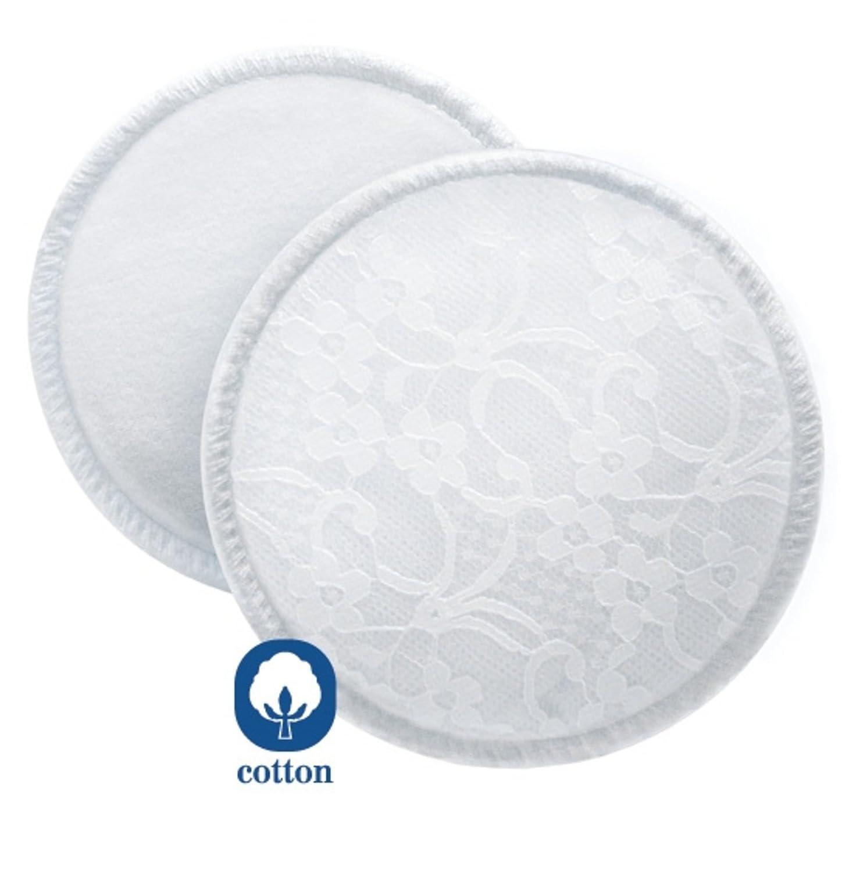 Philips Avent SCF155/06 - Discos absorbentes lavables para cualquier momento, higié nicos, 6 discos reutilizables higiénicos