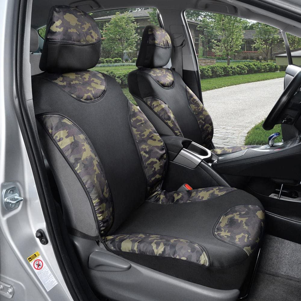 ACauto Camouflage Camo Waterproof Seat Cover Protector Universal Fits Car SUV Truck Van Driver Seat//Front Passenger Seat Avoid Sweat Dirt Dust Good Choice for Beach Swimming Surfing Gym Running Yoga