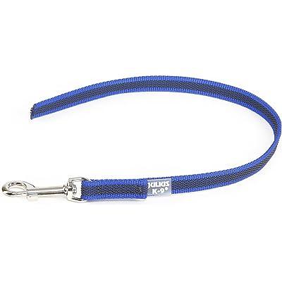 Julius-K9 Color & Gray Correa de Perro del Estupendo-Apretón sin Asa, 0.45 m, Azul y Gris, 14 mm x 0,45 m