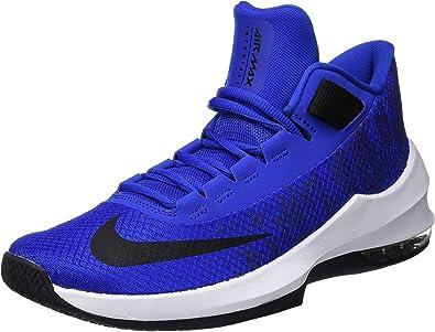 Nike Air Max Infuriate 2 Mid - Zapatillas de baloncesto para hombre, talla  14, color azul y blanco