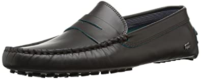 114adc4fd87 Lacoste Men s Concours 10 LCR SRM Slip-On Loafer Brown 8 ...