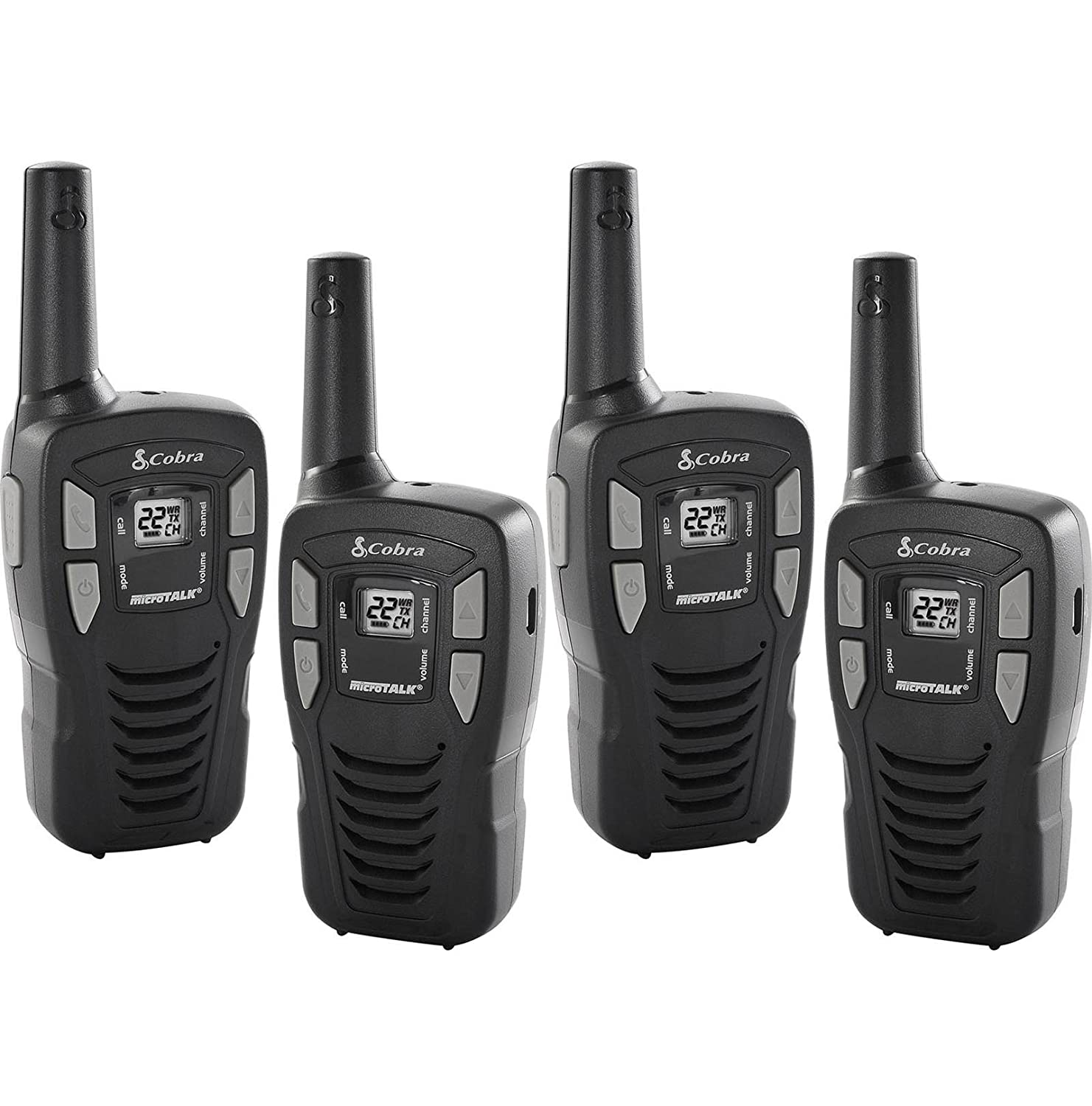 (4) Cobra CX112 16 Mile 22 Channel FRS/GMRS Walkie Talkie Two-Way Radios:  Car Electronics