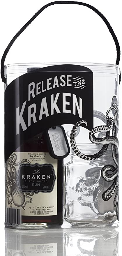 Ron The Kraken 70cl, pack con vaso: Amazon.es: Alimentación ...