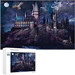 Jigsaws Puzzles 1000 pieces for Adults, Vintage Owl and Magic School Castle Thick Puzzles for Family Fun, Teens, Adult Gifts, Large Wooden Challenging Puzzle Games Toys Artwork for Home Wall Art Decor