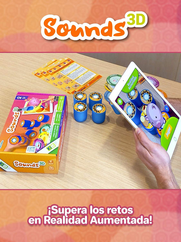kibi Sounds 3D - Juegos de Mesa rápidos y Divertidos con Sonidos y Cartas. App educativa y Juegos 3D: Amazon.es: Juguetes y juegos