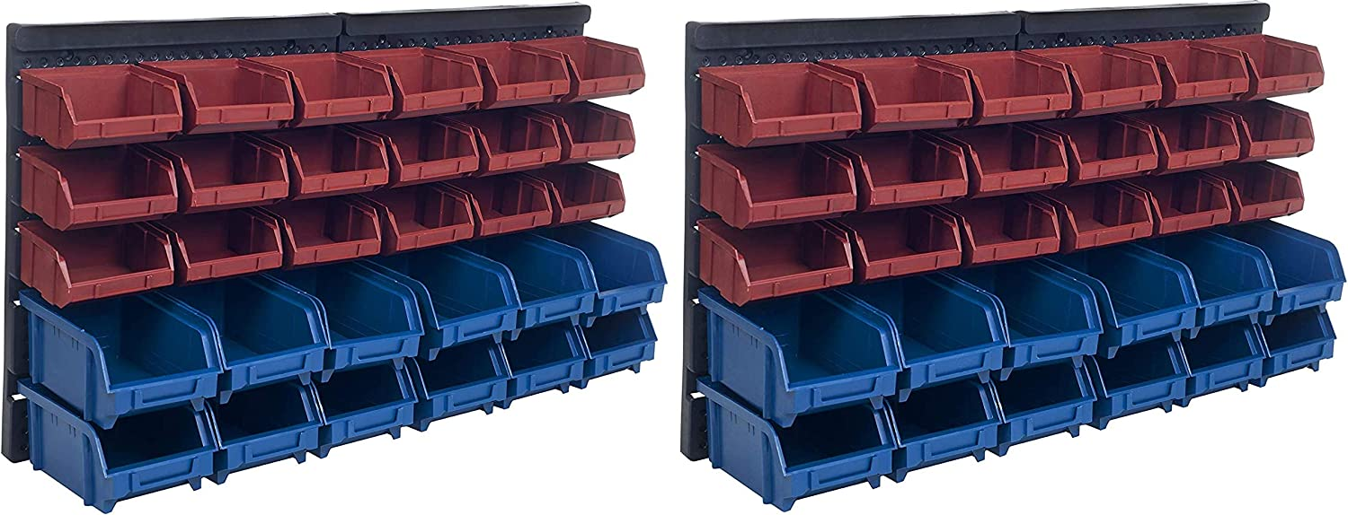 Storage Drawers-30 Compartment Wall Mount Organizer Bins- Easy Access Compartments for Hardware, Nails, Screws, Beads, Jewelry, and More by Stalwart: Home Improvement